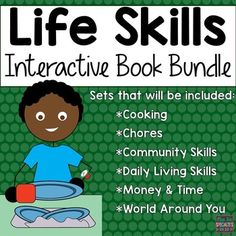 Looking to improve life skills, receptive and expressive language and attending skills? Then these interactive books are for you! Interactive books require the student(s) to move the pictures and participate. This active participation improves attending skills while reducing off task time.