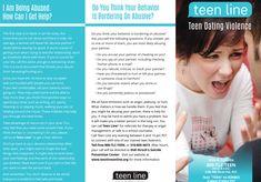 Teenline Teen Dating Violence Brochure