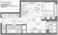 Kleine-Wohnung-modern-und-funktionell-einrichten_1-zimmer-apartment-grundriss