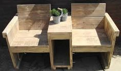 Afbeeldingsresultaat voor tuinmeubelen steigerhout