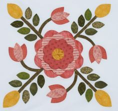 Sycamore Rose - Free Block of the month 2014 patterns
