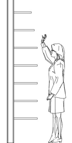 "Shelves above eye level should be stepped back to make it easier to see their contents. A 2"" setback for each 12"" of height is usually sufficient."