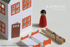Fun little mini paper dollhouse. Free download from A Little Hut.