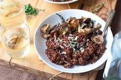 Mushroom Quinoa Risotto #MeatlessMonday