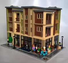 The Cartier - Modern Loft Apartments : a LEGO® creation by MoreCity Bricks Modern Loft Apartment, Loft Apartments, Modern Lofts, Lego Building, Building Design, Building Ideas, Lego Shuttle, Casa Lego, Lego Projects