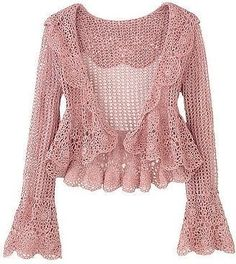 Cute and Awesome Crochet Top Patterns and Design Ideas - Daily Crochet! Cute and Awesome Crochet Top Patterns and Design Ideas Crochet Top Outfit, Crochet Coat, Crochet Jacket, Crochet Cardigan, Crochet Clothes, Cardigan Sweaters, Crochet Bags, Sweater Coats, Crochet Animals