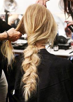 12 Le Fashion Blog 21 Braid Ideas For Long Hair Mara Hoffman Chunky Single Braided Ponytail Via Popsugar