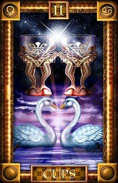 2 de coupes - Tarot of Dreams par Ciro Marchetti