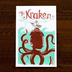 Kraken Print 12x18 now featured on Fab for $17.50   http://www.familytreedesign.net/