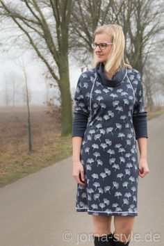 Schönes Kleid für kalte Tage - Schnittmuster und Nähanleitung via Makerist.de