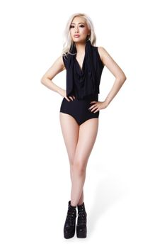 Hooded Matte Black Bodysuit › Black Milk Clothing