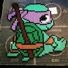 TMNT Donatello perler beads by xpeachheart