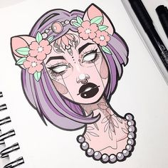 A closer look at one of my favorite drawings from this year (thinking I'll turn her into stickers)  Thank you to everyone who has supported me this year • I will be filming a new sketchbook video tour for you guys this weekend  Also, my coloring book should be ready to print soon! Make sure you turn on post notifications for my IG if you want to see updates on that & more!  #graphicartery #enamelpins #sketch #sketchbook #ipad #illustration #art #artist #artcollective #wip #myart #instaart...