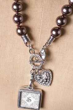 Beautiful chocolate pearl necklace by Jewel Kade.