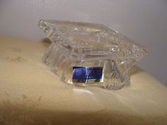 "Waterford Marquis Crystal Graduation Cap ""Congrats Grad"" with Sticker Free Ship  #Waterford"