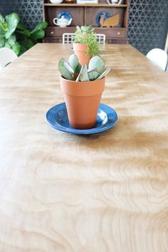 Turn A Birch Door Into a Dining Table With Prettypegs | Hello Lidy