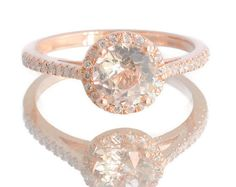 Sapphire engagement rings rose gold engagement by AllSapphires