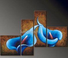 Blue calla lilies wall art
