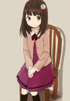 Kawaii Anime Girl, Anime Art Girl, Manga Art, Anime Girls, Cute Characters, Anime Characters, Anime Chibi, Manga Anime, Girl Sketch