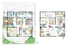 広々とした生活空間を確保したコンパクトな家 | 間取りプランニング | すむすむ | Panasonic House Layout Plans, Small House Plans, House Layouts, Sims House Design, Japanese Architecture, Japanese House, Floor Plans, Flooring, How To Plan