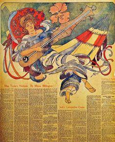 TICMUSart: Illustration for 26 August Philadelphia Press - John French Sloan (1900) (I.M.)