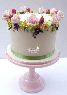 Springtime Anniversary Cake by The Rosehip Bakery - http://cakesdecor.com/cakes/305402-springtime-anniversary-cake