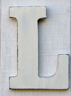 baby nursery initial rustic wooden letter l distressed in vintage white 12 tall wood name letters custom wedding gift