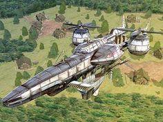 Final Fantasy Vii, Sci Fi Fantasy, Fantasy Serie, Spaceship Concept, Concept Ships, Concept Art, Zeppelin, Diesel Punk, Steampunk Ship