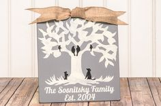 Family Tree  Family Name Sign  Family Sign Family by DesignedSigns