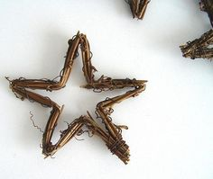 Hvězda/réva, přírodní 7 cm Decoupage, Decor, Decoration, Decorating, Deco, Embellishments