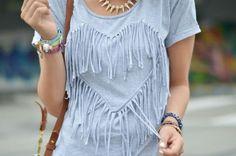 DIY fringe heart | Trash To Couture | Bloglovin'