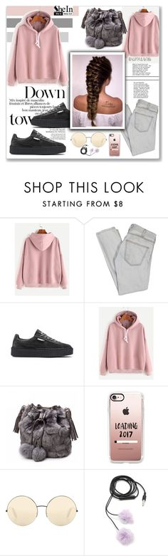 """Down Town"" by sabine-herrlock ❤ liked on Polyvore featuring Current/Elliott, Puma, Casetify, Victoria Beckham and Forever 21"