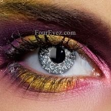 Colour Vision Glimmer Black & Silver Contact Lenses (Pair)