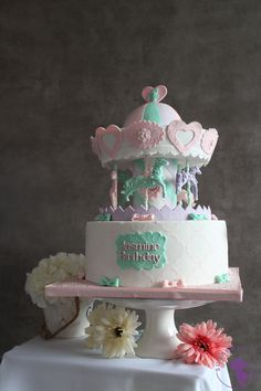 Carousel cake by Sugar Me Kissery