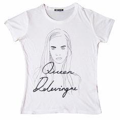 T-shirt Queen Delevigne, inspirada na modelo