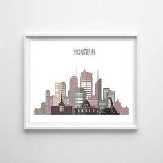 Montreal Montreal printable Montreal skyline Montreal art