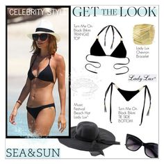 """Get Nichole's Beach Look with LadyLuxSwimwear!"" by ladyluxswimwear ❤ liked on Polyvore"