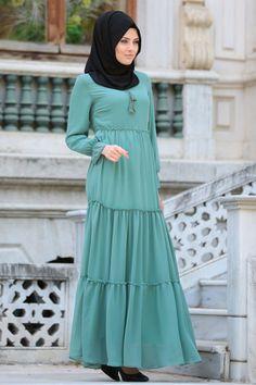 Neva Style - Dantel Detaylı Kiremit Tesettür Elbise 41760KRMT Elbiselerde İlkbahar Yaz İndirimi, GÜNLÜK ELBİSELER, Neva Style NEVA STYLE