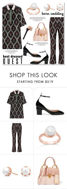"""""""Best Dressed Guest: Barn Weddings"""" by blossom-jewels ❤ liked on Polyvore featuring Giambattista Valli, Valentino, Miu Miu, contestentry, bestdressedguest, barnwedding and Blossomjewels"""