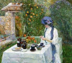 Frederick Childe Hassam : French Tea Garden*