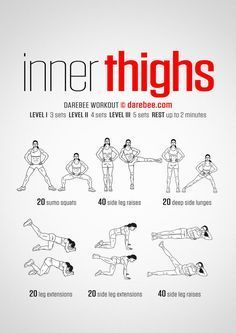 In thighs workout. Women& fitness tips. In thighs workout. Womens fitness tips. Fitness Workouts, Fun Workouts, Yoga Fitness, Fitness Motivation, Health Fitness, Female Motivation, Beginner Crossfit Workouts, Fitness Diet, Beginner Leg Workout