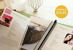 Tastebook -- Make your own cookbook that you can add to! love this :)