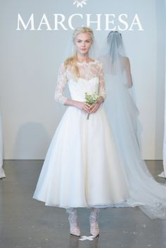 I'm working on a tea-length gown this week for a bride on Season 3 of #sbsn! I wish I had this Marchesa dress from Spring 2015 in my mix.