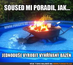 Maybe Not the Best Way to Heat Your Pool of the Most Shared Funny Pictures :Weird Nut Daily - oodlepic Redneck Humor, Redneck Quotes, Pokemon, Pool Heater, Heated Pool, Just For Laughs, Laugh Out Loud, I Laughed, Funny Pictures