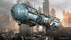 Surveillance drone. Modo 902, Photoshop. I did not made the background image. Don't know who the artist is. But it's beautiful