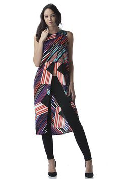 Abstract print tunic top with wrap front   Shop this product here: spree.to/azb9   Shop all of our products at http://spreesy.com/JewelsByScarlett      Pinterest selling powered by Spreesy.com