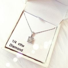 """LOWEST PRICEGenuine diamond necklace .925 stamped silver chain 19"""" in length, 1/4 CTW diamond. Tiny knot in the chain near the clasp but I will try to remove before shipping the necklace out. No damages to necklace. This purchase comes with a free gift ❌LOWBALLING WILL BE DECLINED‼️ Jewelry Necklaces"""