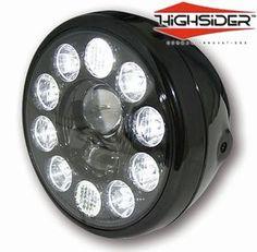 "LED Side Mount 7"" Motorcycle Headlight"