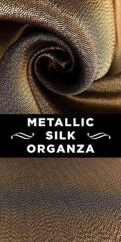 Gold Silk Blend Metallic Organza