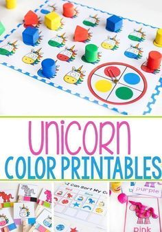 Unicorn Themed colored activities and printables from Life Over C's for preschool. Learn colors with these fun printable activities. Try these fun unicorn color printables today! Preschool Color Activities, Kindergarten Math Activities, Preschool Ideas, Preschool Lessons, Preschool Math, Kindergarten Classroom, Classroom Ideas, Learning Colors, Learning Games